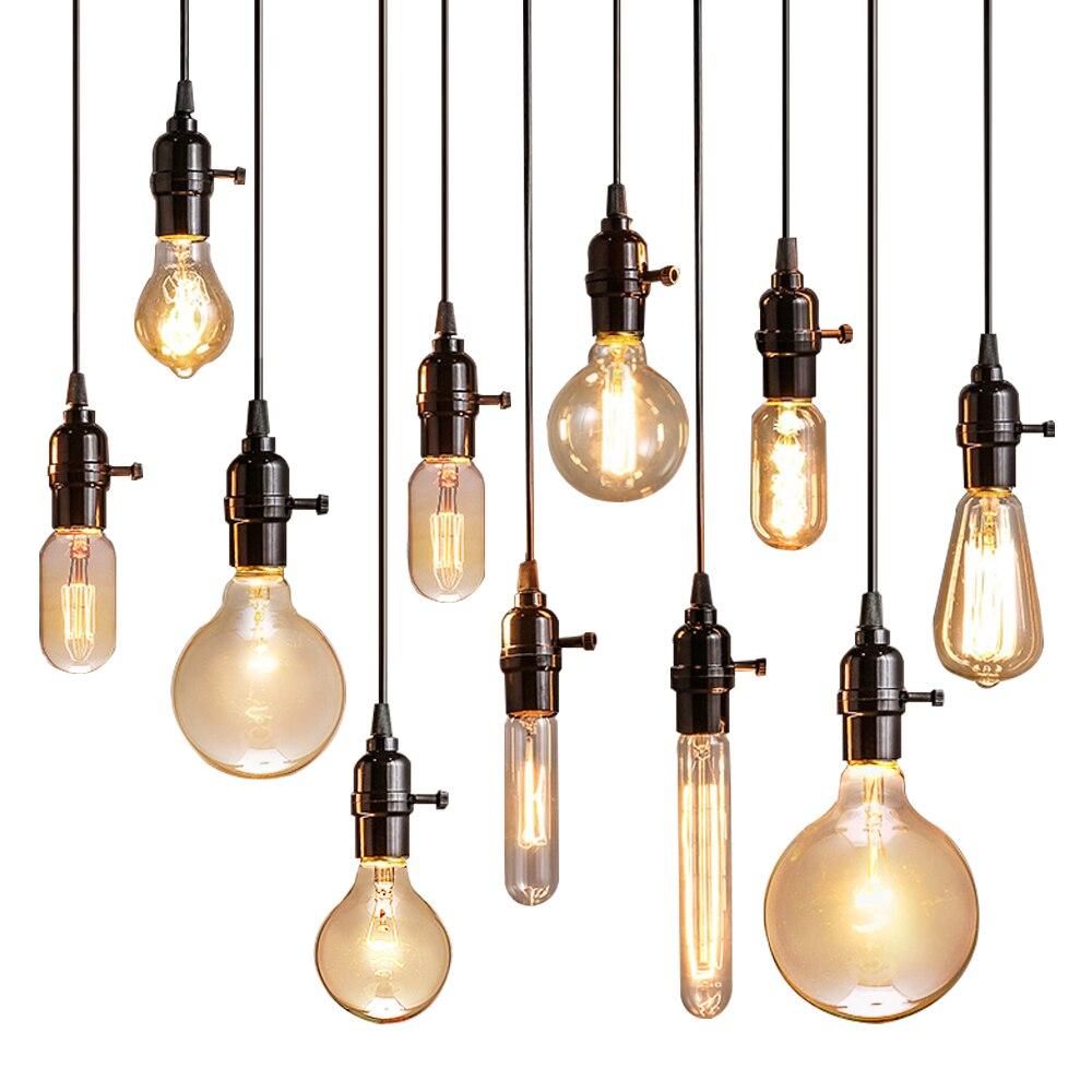 Vintage Anhänger Lichter Leuchte Lampe Loft E27 Hanglamp Glanz ...