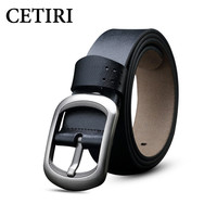 100 Cowhide Genuine Leather Belts For Men Brand Pin Buckle Strap Male Fancy Vintage Jeans Cintos