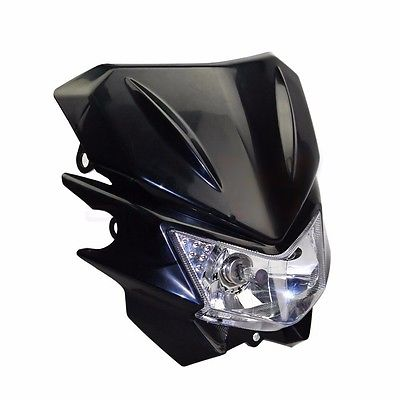 Black 35W Off Road Dirt Bike Enduro Motorcycle Headlight For Honda Streetfighter Kawasaki Suzuki Yamaha KTM Off Road