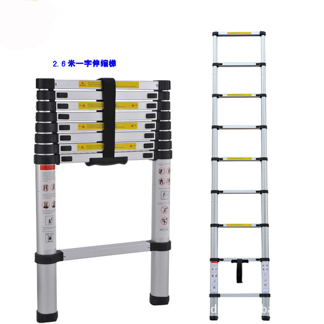 2 6 m empuje tipo escalera de bamb escalera telescopica for Escala o escalera