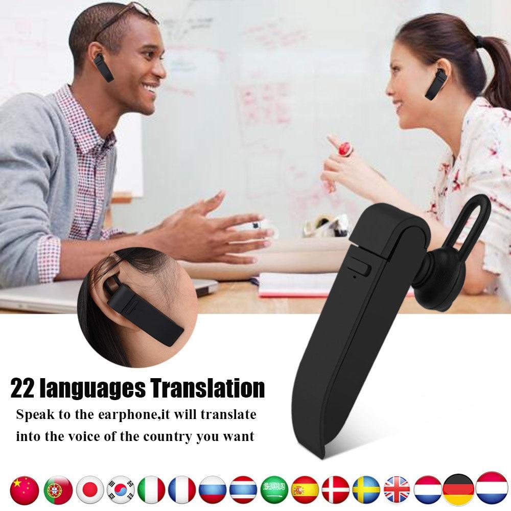 VBESTLIFE Intelligent Multi-Language instant translator voice with Wireless bluetooth earphone headphones traductor simultaneo