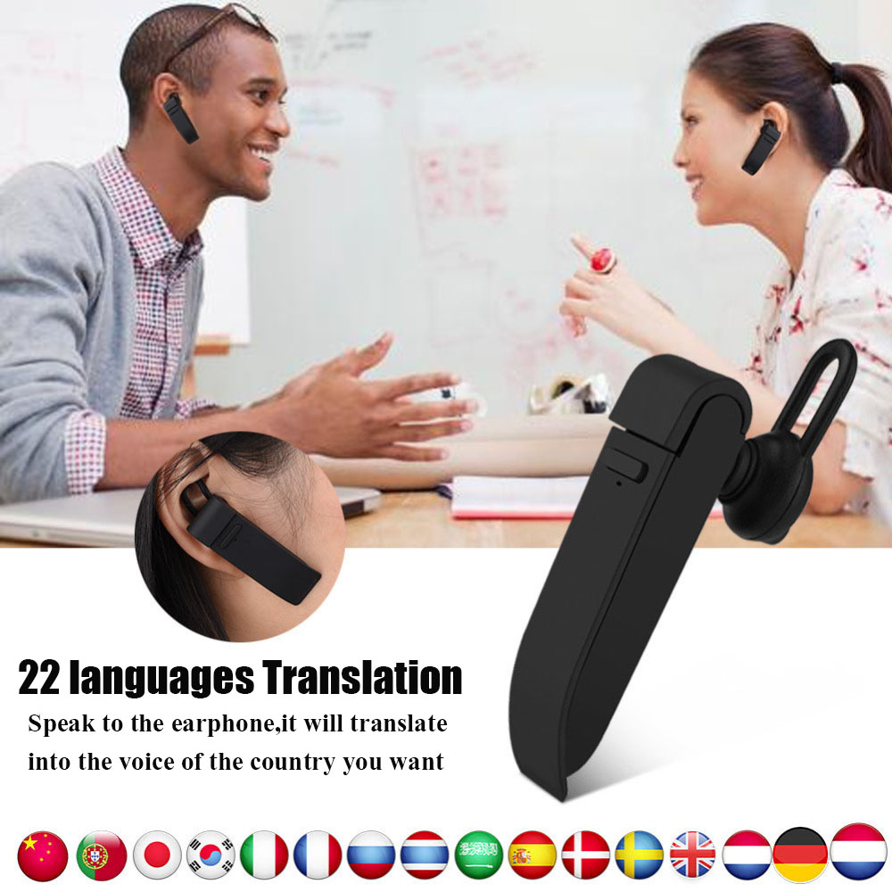 VBESTLIFE Intelligente Multi-Langue instantanée traducteur voix avec Sans Fil bluetooth écouteur casque traductor simultanée