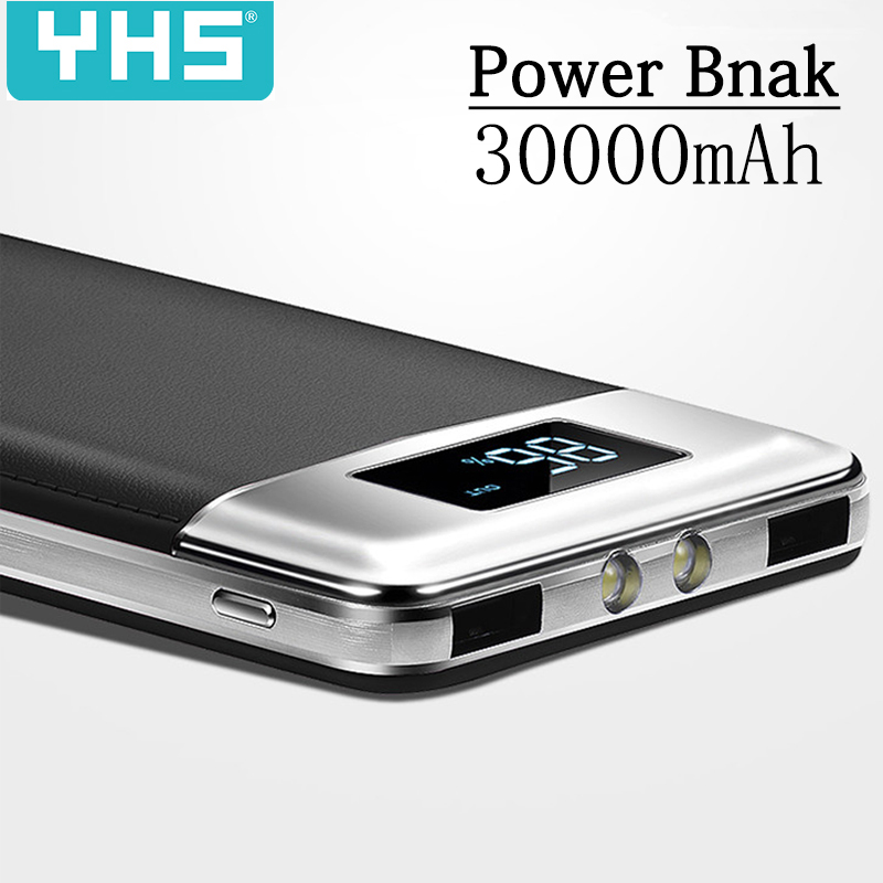 Advertising Automobiles 30000mah Power Bank External Battery Poverbank 2 Usb Led Powerbank Portable Mobile Phone Charger For Xiaomi Mi Iphone 8 Samsung