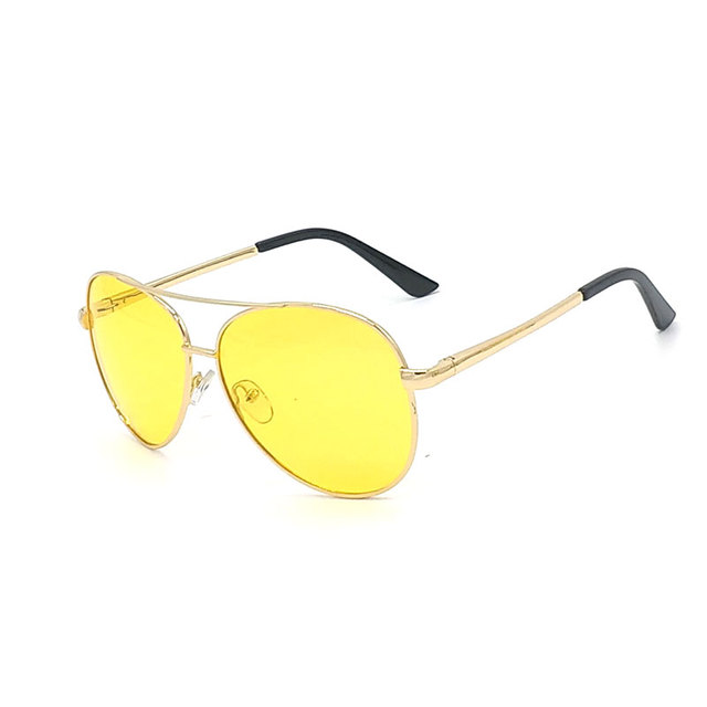 Polarized Glasses Yellow Lens Men Sunglasses For Night Driving In Dark Polaroid  Lentes De Sol Amarillo Male Stylish Wholesale 4494c66665