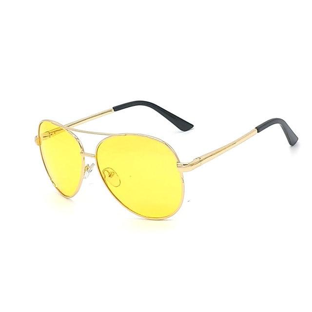 e6542ff3993b1 Óculos polarizados Homens Óculos de Sol Óculos de Lente Amarela Para  Dirigir À Noite Em Amarillo