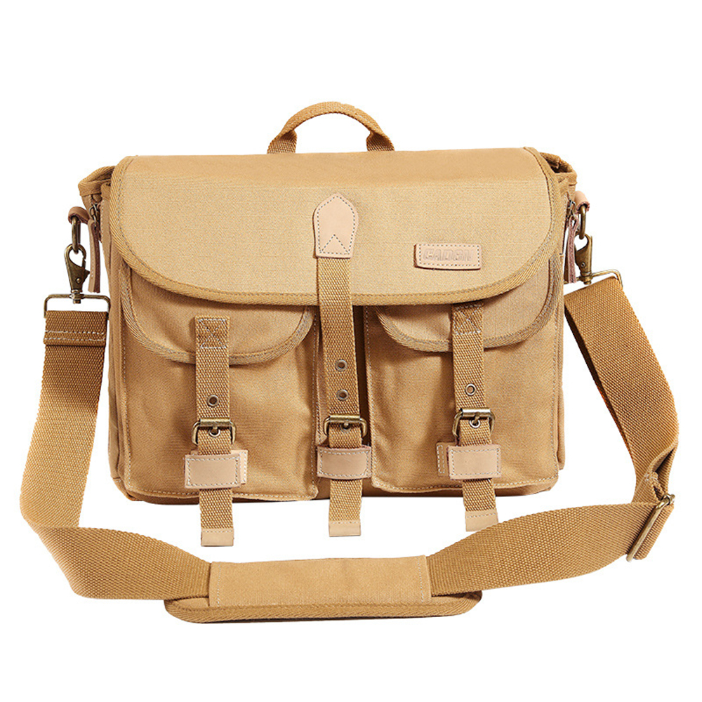 DSLR Camera Shoulder Canvas Bags Water Resistant Shoulder Bag with Removable Inner Bag and Rain Cover for DLSR Camera