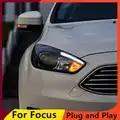 KOWELL Style De Voiture pour Ford Focus Phares 2015 2018 Focus3 phare LED DRL Bi Xénon Lentille Haute Basse Faisceau Parking Brouillard Lampe