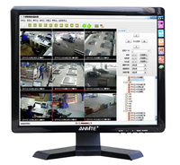 Anmite 15 Led Technology Monitor PC BNC HDMI VGA Built in speaker