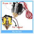 Латунь Multi Цвет Сопла 3 В 1 ИЗ 0.4 мм Для 1.75 мм Накаливания Мульти Насадка для КОССЕЛЬ и Prusa I3 для выделенную