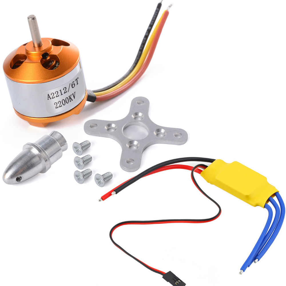 XXD A2212 A2208 930KV 1000KV 1400KV 2200KV 2700KV Brushless Motor with 30A Brushless ESC Motor Speed Controller for RC Drone
