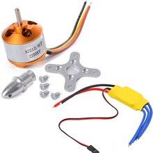 XXD A2212 A2208 930KV 1000KV 1400KV 2200KV 2700KV bezszczotkowy silnik z 30A bezszczotkowy ESC regulator prędkości silnika dla RC Drone
