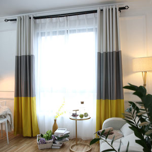 Image 3 - 3 Colors Striped Blackout Curtains for the Bedroom Cotton Linen Modern Curtains for Living Room Window Curtains Blinds