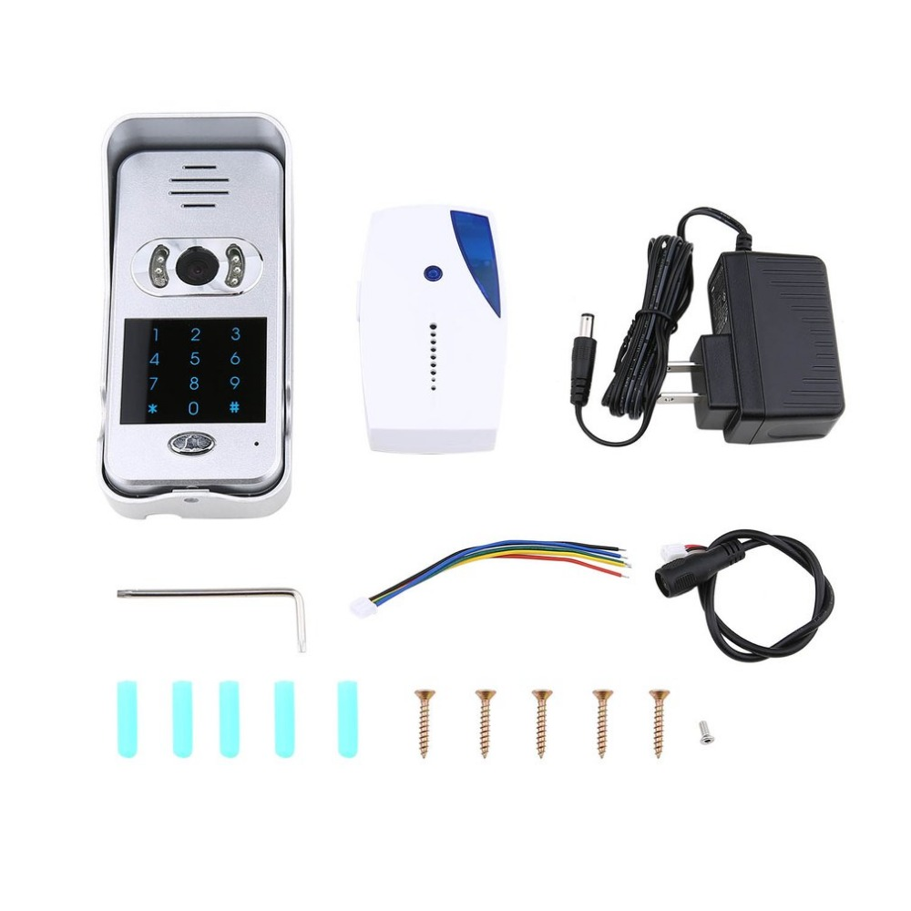 Intelligent électronique oeil de chat WIFI interphone vidéo sonnette maison sans fil dispositif d'appel capteur de Vision nocturne infrarouge