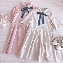 e3ec1398a2fd KYQIAO sweet lolita dress mori girls summer Japanese short sleeve one-piece  dress
