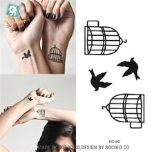 Body Art Waterproof Temporary Tattoos For Men And Women And Couples Simple 3d Bird Design Small Tattoo Sticker