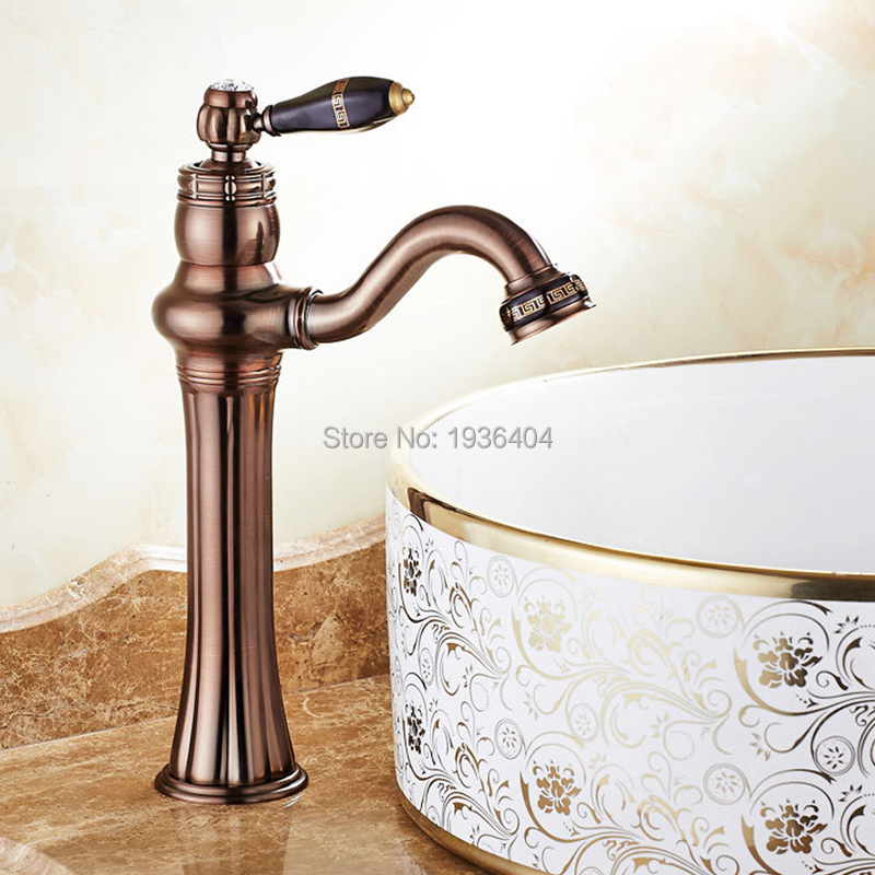 Deck Mounted Brass Basin Faucet Bathroom Faucet Vanity Sink Mixer Tap Oil Rubbed Bronze 9062O oil rubbed bronze bathroom sink faucet double handles widespread 3pcs basin mixer tap deck mounted
