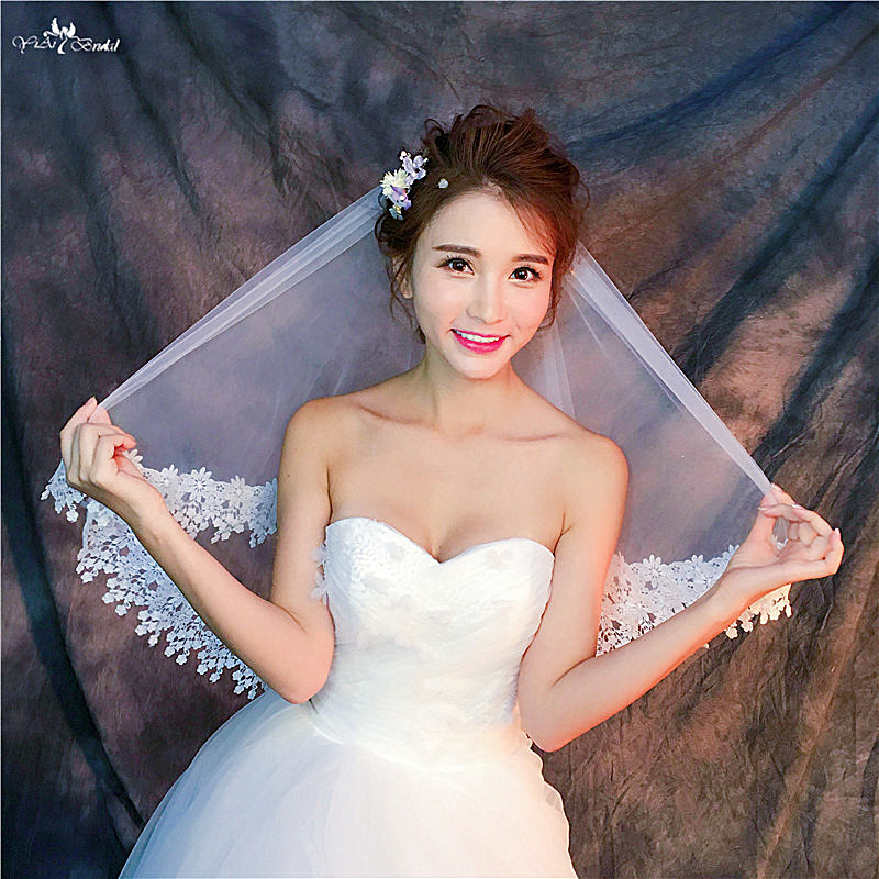 RSV64 Real Pictures Yiaibridal Bridal Wedding Veil With Comb 2 Layer