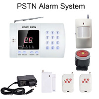 Hot Home security PSTN Alarmsysteem Telefoonkiezer 99 draadloze zones 433 mhz draadloze PIR motion detector Deur contact sensor-in Alarm Systeemkits van Veiligheid en bescherming op