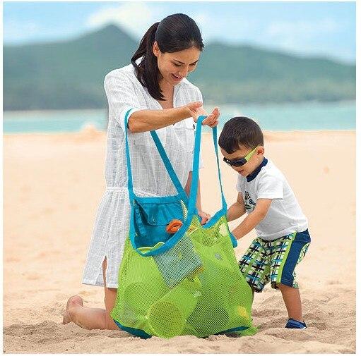 Children Sand Away Beach Mesh Bag Children Beach Toys Beach / Sand Toys Bag Baby Sand Playing Toy Bags Beach Sand Toys Tools