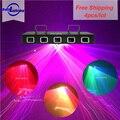 5 линз RGB Полноцветный лазерный луч для сканирования Рождественский лазерный проектор DMX Звук Авто проектор DJ Вечеринка домашнее шоу сценич...