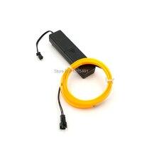 Pour voiture intérieur décoration dc-3v cellulaire boîtes lecteurs + 5 m 2.3mm-jupe 10 couleurs en option flexible el fil glowing led bande