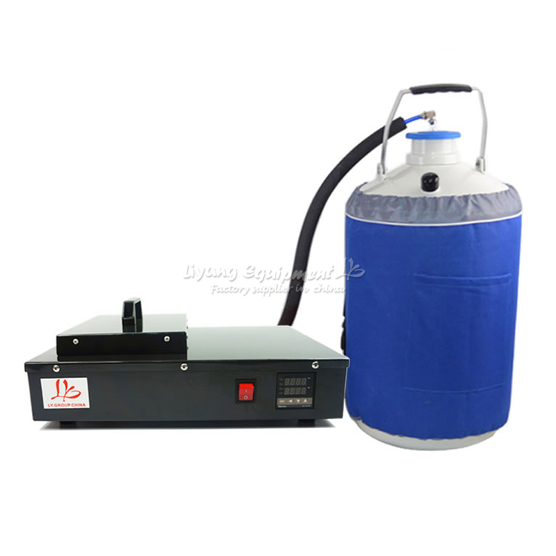 Russia tax free LY FS-06 liquid nitrogen Freeze Separator with oil-free vacuum pump and 10L liquid nitrogen tank vacuum pump gas water separator gas liquid separator oil water separator vacuum pump filter 2 outlet and inlet
