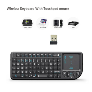 Image 1 - Original Rii X1 2.4GHz Mini Wireless Keyboard English/Russian Keyboard with TouchPad for Android TV Box/Mini PC/Laptop