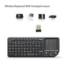 Rii Mini clavier sans fil X1 2.4GHz, anglais, avec pavé tactile, pour Box Android TV, Mini PC et ordinateur portable