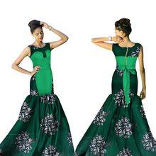 New African Dresses for Women Bazin Riche 2017 Fashion Elegant Patchwork Mermaid Vestidos Ankara Clothes WY1535