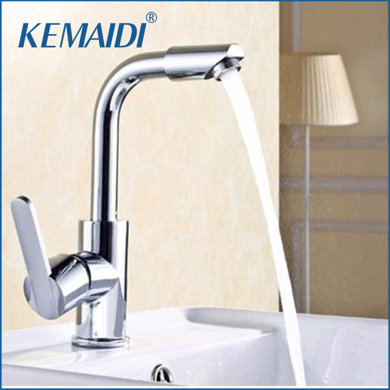 KEMAIDI Hot Selling Kitchen Faucet Spout Deck Mounted Single Handle Hole Vessel Mixer Hot Cold Tap