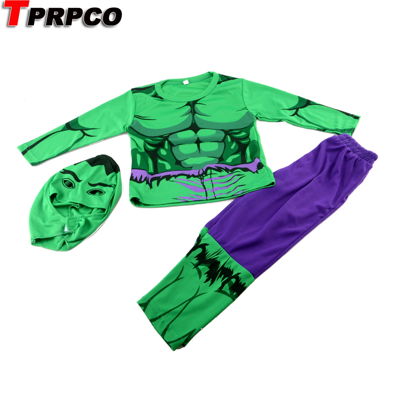 TPRPCO Amazing Green Hulk Super Hero Boy Kid Party Costume Outfit Cloth Set Gift 3-7Y NL982