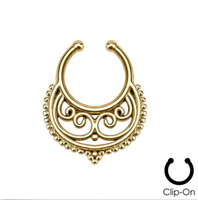 Faux Fake Nose Ring Cheater Nose Ring Clip On Fake Septum Clicker Non Piercing Nose Ring