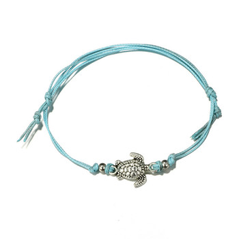 Trendy Beach Turtle Anklets Bracelets Fashion Rope Silver Color Alloy Anklets Chain For Female Party Gift 3