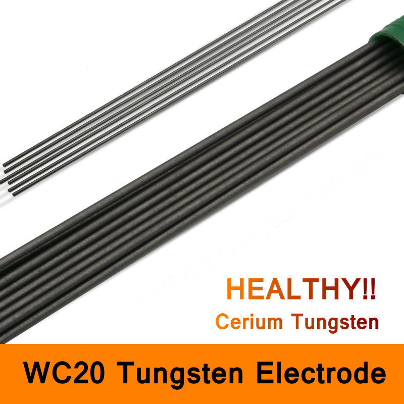Tungsten Electrodes WC20 Electrode Cerium Tungsten Rod Needle Wire for TIG WSME Welding Machine Accessories Long 450mm 1kg/pack wt20 tig welding tungsten electrode 2