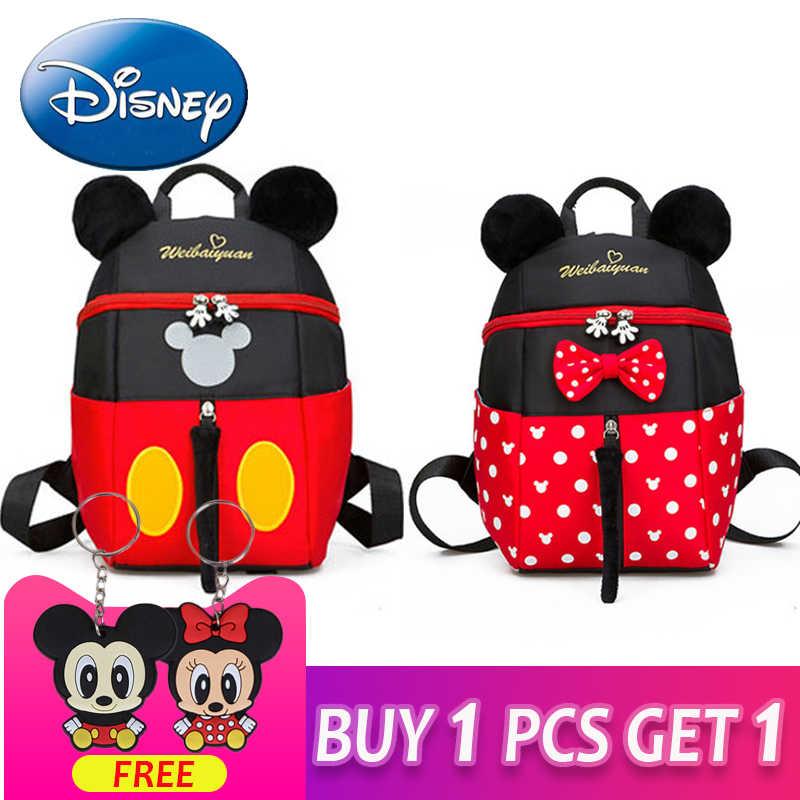 0a2da245011 2019 New Mickey Mouse Minnie Shape Girls Boys Backpack Kids School Bags  Cartoon Children Cute Kindergarten