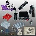 Profesional 1 Unidades 90-264 V Equipo Completo Ametralladora Del Tatuaje fuente de Alimentación Kit de Cable Cuerpo Belleza Herramientas de BRICOLAJE