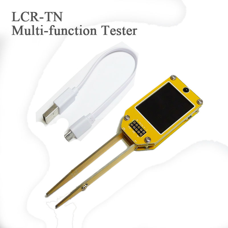 ФОТО 2017 Exclusive!! LCR-TN Multifunction Tester TC-V2.12k TFT display Tweezers end key Doide/Triode/MOSFET/IR Decoder/ Transistor