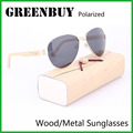 Mens Sunglasses Brand Designer Aviator 100% UV Polarized Retro Sunglasses Pilot Metal Eyewear Vintage Sun Glasses Female GB1001