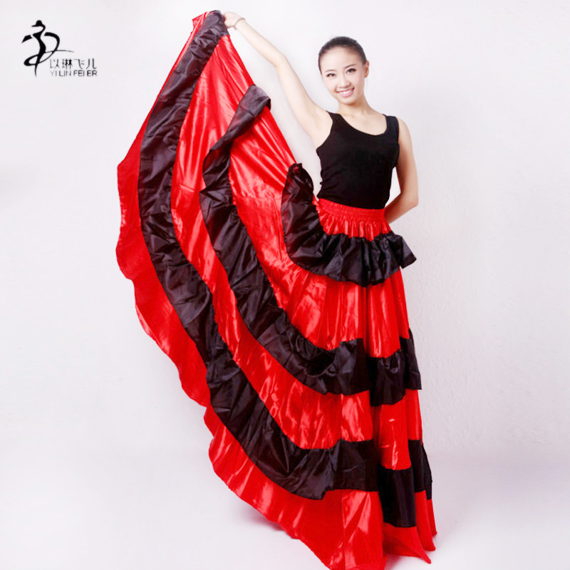 Gypsy Flamenco Spain Belly Dancers Polyester Belly dance Skirt AU  Спортивный бальный танец