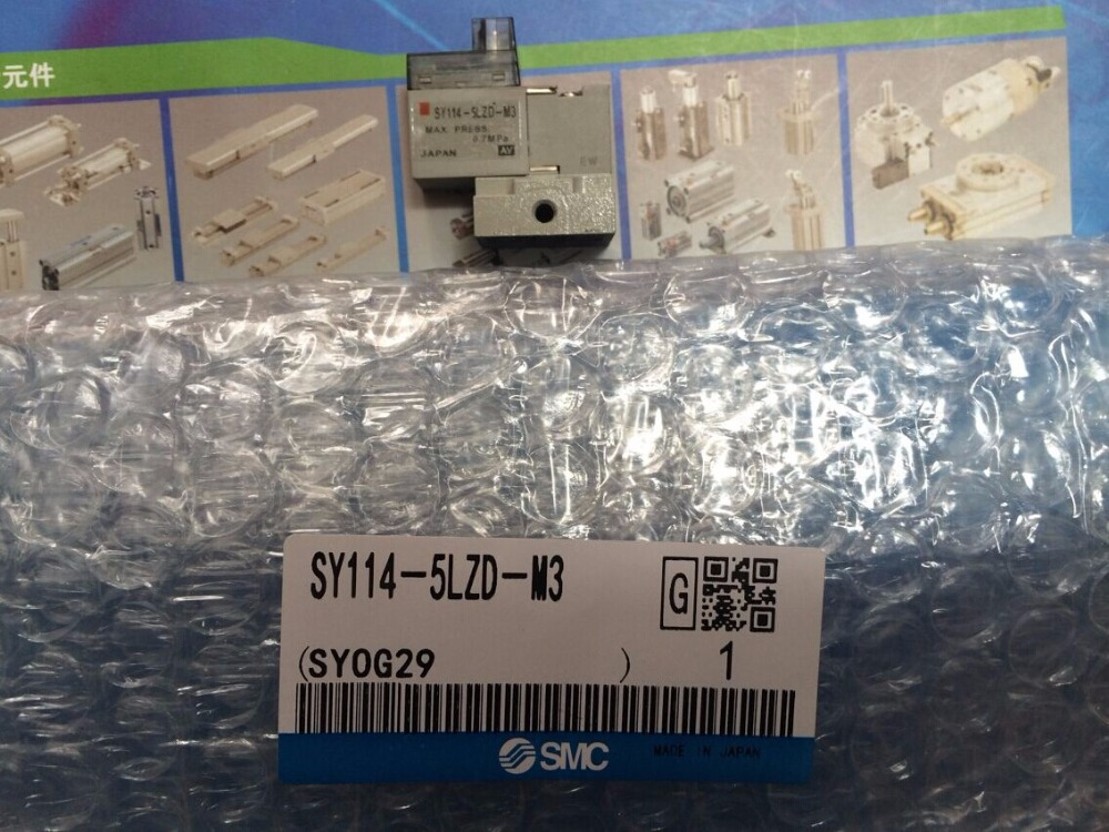 BRAND NEW JAPAN SMC GENUINE VALVE SY114-5LZD-M3 brand new japan smc genuine valve sy3120 5lzd c4