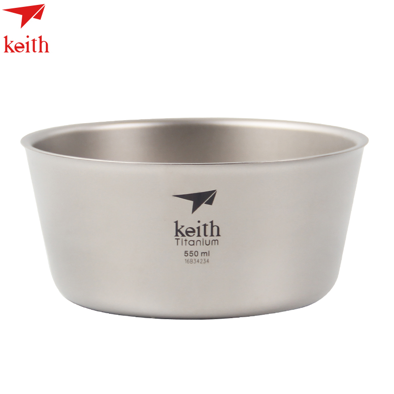 Keith 550ml Titanium Double wall Bowl Outdoor Camping Picnic Tableware Ti5322