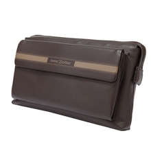Genuine cowhide Leather hand  men business long card pouch money casual Clutch coin purse  holder clip High-capacity bag wallet