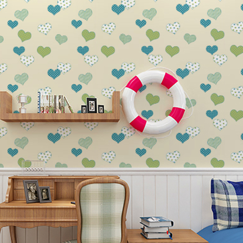 Cheng Shuo wallpaper wallpaper non-woven wallpaper children room boys and girls bedroom full posted green cartoon wallpaper posted