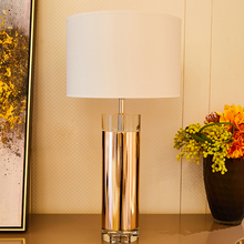 Table Lamp Crystal Champagne Gold Lamps For Bedroom Living Room High Grade Plating Gilding