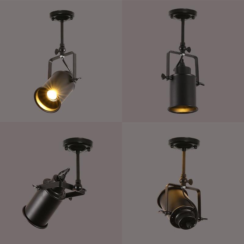 Retro E27 Track Light Spotlights Minimalist Led Ceiling: Artpad American Vintage Retro E27 COB LED Spotlight