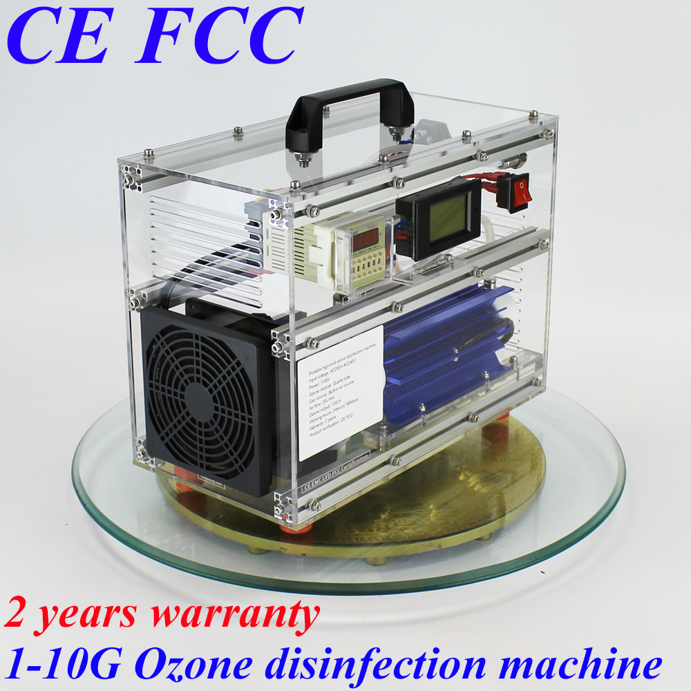 Pinuslongaeva CE EMC LVD FCC BO-1030QY 10g/h 10grams B1 acrylic shell ozone machine for air or water bath disinfection