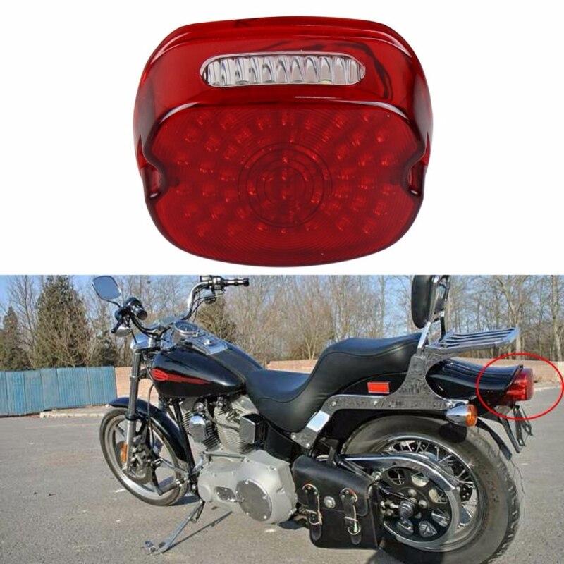 smoked laydown rear license plate brake lamp harley flst. Black Bedroom Furniture Sets. Home Design Ideas