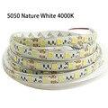 Nature white 4500K Led strip Light 5050 5M 60led/M Waterproof IP65 IP20 300Leds DC12V Flexible Led Tape Ribbon Light Decoration