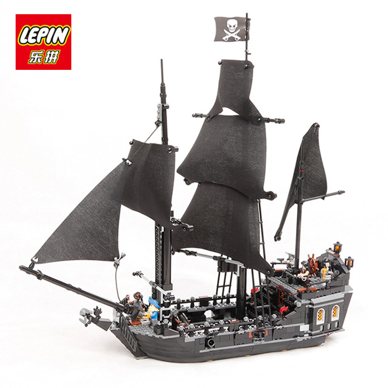 LEPIN 16006 16009 Pirates Of The Caribbean The Black Pearl Ship Building kit Blocks Bricks Toys Compatible lego hobbit 4184 1513pcs pirates of the caribbean black pearl general dark ship 1313 model building blocks children boy toys compatible with lego