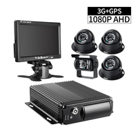 4CH Video/Audio Input Real Time Surveillance 3G GPS Positing 265G SD Storage Car Mobile Dvr With 4Pcs Bus 2.0MP Camera